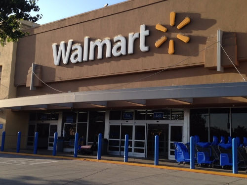 Walmart facade in Mountain View